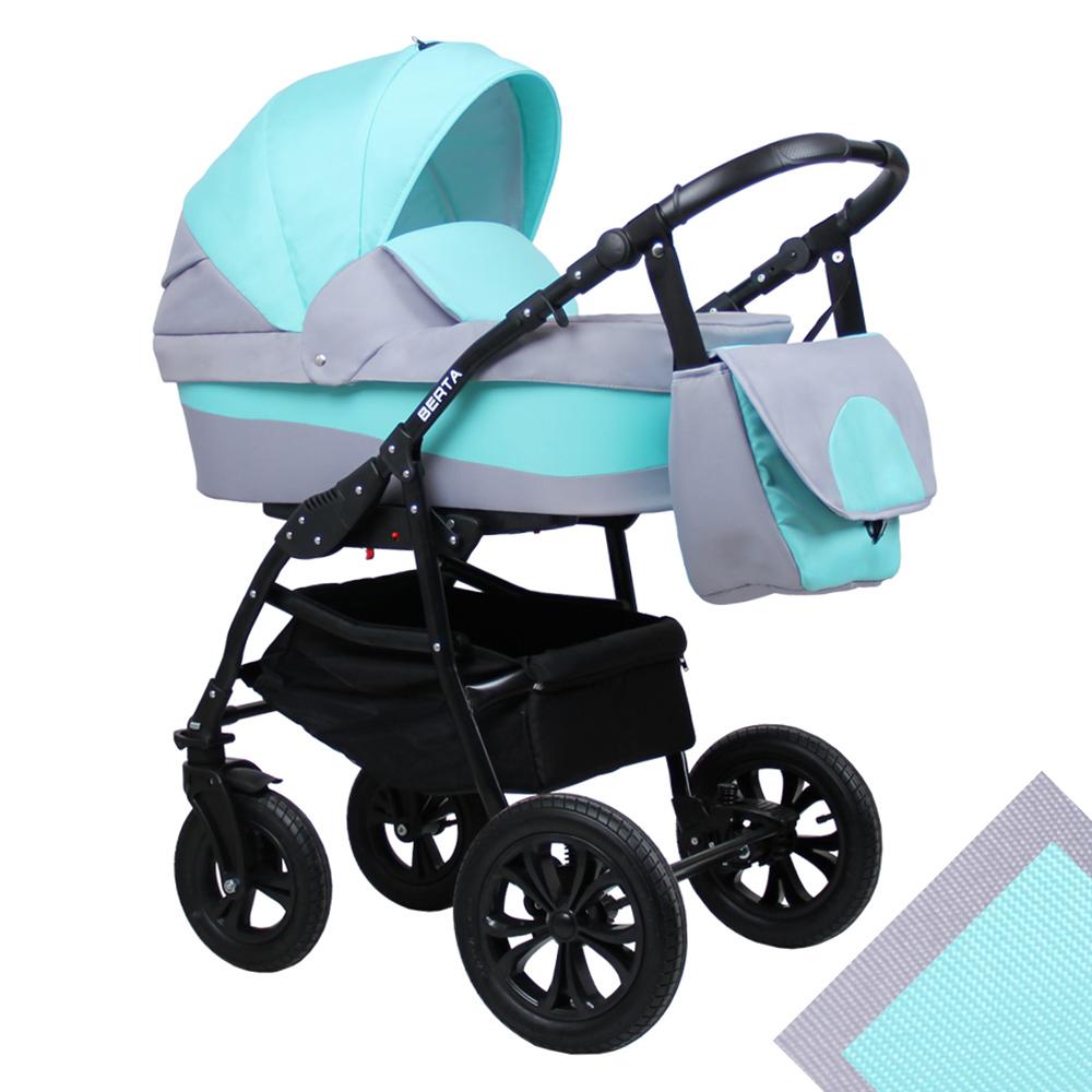 Детская коляска для новорожденных 2 в 1 на поворотных колесах, модульная коляска с прогулочным блоком Alis Berta, Алис Берта. Цвет Be-02