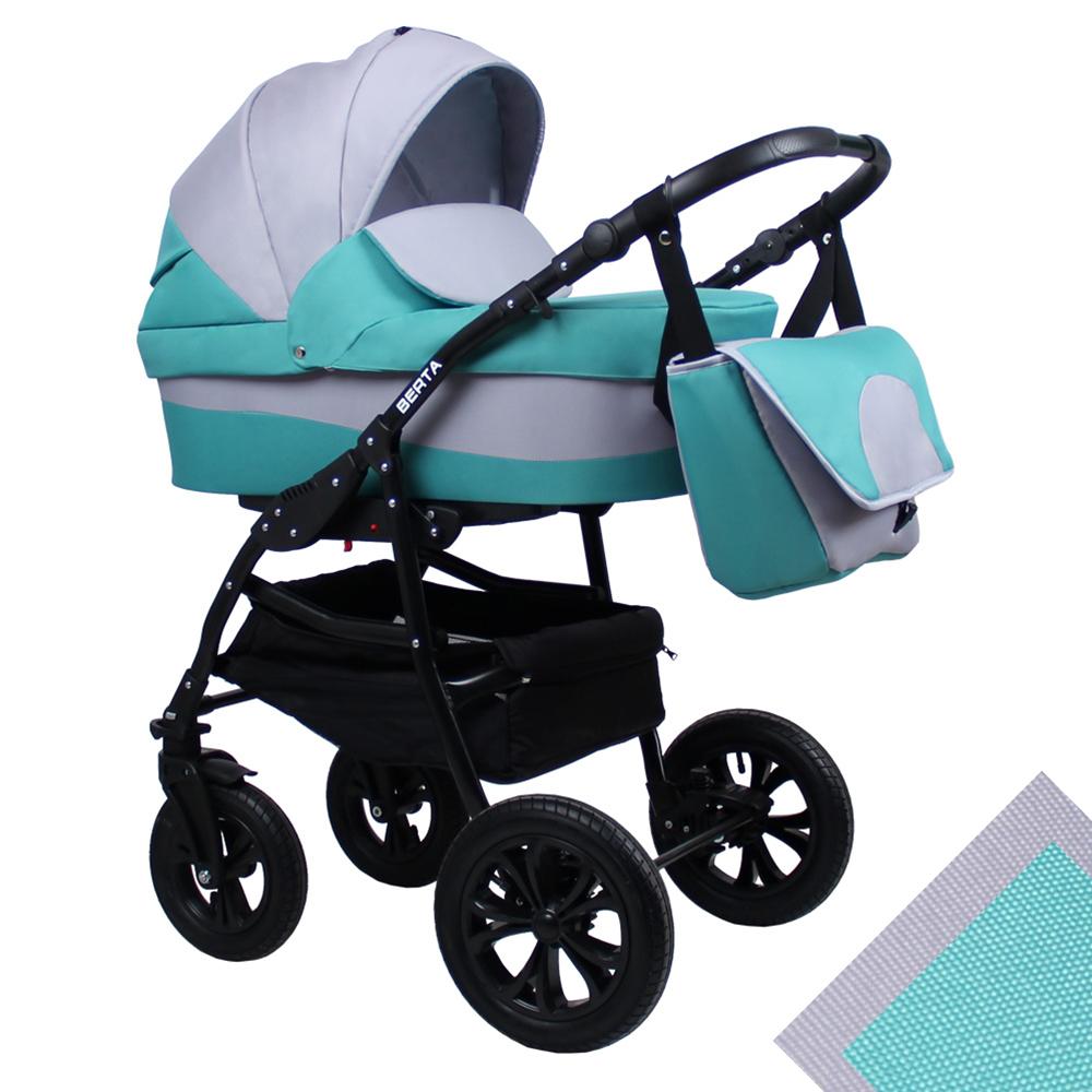 Детская коляска для новорожденных 2 в 1 на поворотных колесах, модульная коляска с прогулочным блоком Alis Berta, Алис Берта. Цвет Be-06