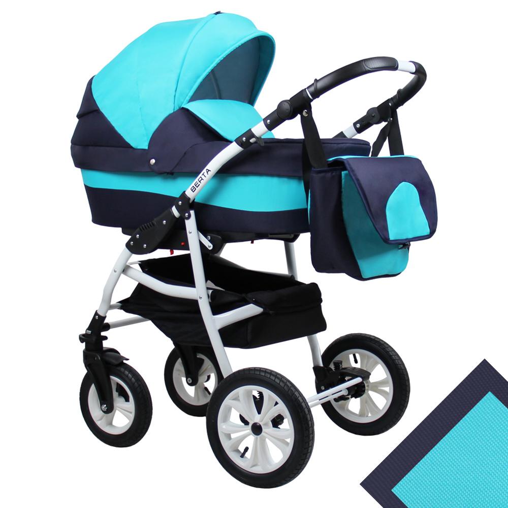 Детская коляска для новорожденных 2 в 1 на поворотных колесах, модульная коляска с прогулочным блоком Alis Berta, Алис Берта. Цвет Be-07