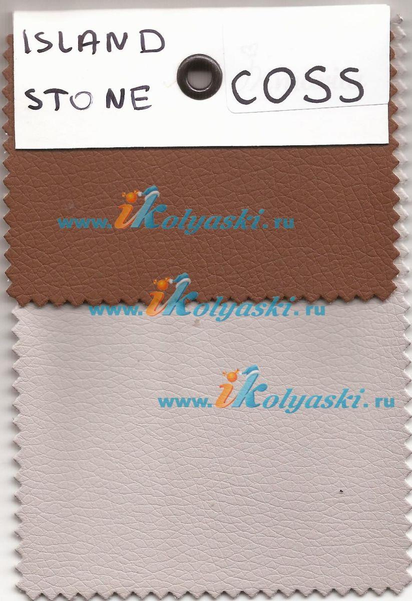 Roan Coss Classic коляска для новорожденных 3 в 1 на больших колесах новые цвета 2020 - купить в интернет-магазине Иколяски в Москве с доставкой по РФ - цвет Island Stone бежевая кожа