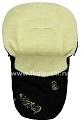 Зимний конверт для новорожденных Ecobaby - Экобейби, натуральный шерстяной конверт с овечьей шерстью и шерстью альпак, увеличенного размера 98х45 см, артикул 0306, цвет ЧЕРНЫЙ. Конверт со специальными прорезями под 5-ти точечные ремни безопасности, конверт используется 3 зимы: сначала в люльку как спальный мешок, потом на прогулочную коляску в качестве утеплителя матрасика и накидки на ножки, и потом на санки.