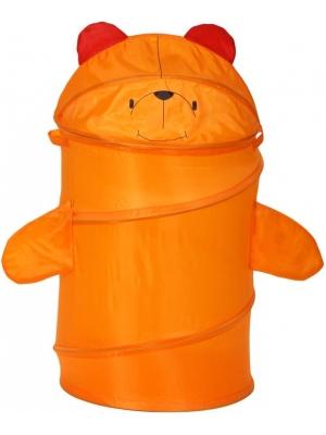 Детская корзина для игрушек Bony МИШКА, размер 43х60 см,  артикул GFP-102. Напольная корзина для игрушек,  складная и компактная для хранения корзина для детских игрушек, детские корзины для игрушек, корзина для детских игрушек