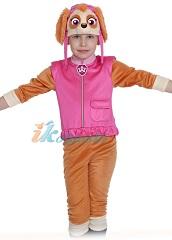 Костюм Скай из мультфильма Щенячий Патруль, детский карнавальный костюм для девочки Скай. Костюм на ребенка с 3 до 8 лет, ростом 98-132 см, артикул 88003