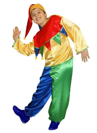 костюм петрушки фото, костюм скомороха фото