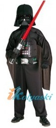 Детский карнавальный костюм Дарта Вейдера - персонажа трилогии фильмов Джорджа Лукаса .  Костюм ТЕМНЫЙ ВОИН Дарт Вейдер, размер S,  рост 116-122 см, на 4-6 лет, в комплекте: комбинезон, плащ,  пояс, пластиковая маска