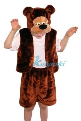Костюм медведя бурого, костюм медведя для мальчика, карнавальный костюм медведя детский, новогодний костюм медведя МЕХ ОСТРОВ ИГРУШКИ КАРНАВАЛИЯ