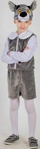 Костюм Волка детский. Детский карнавальный костюм волка, костюм волчонка, маскарадный костюм из мягкого плюша, серия Карнавалия Плюш