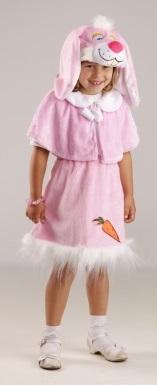 Костюм Зайки, костюм зайчихи, костюм зайца для девочки, детский карнавальный костюм зайчика из мягкого плюша фирмы Остров игрушки - КАРНАВАЛИЯ ПЛЮШ