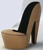 бежевое кресло туфелька