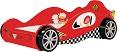 Детская кровать-машина Lotus, материал МДФ, цвета: красный и синий, размер спального места 190х90 см. Кровать-машина для мальчика. Кровать машина Лотус от 5 лет до 16 лет. Кровать машина для подростка, кровать в виде гоночной машины