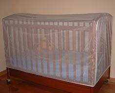 Москитная сетка на детскую кроватку для новорожденных защитит Вашего малыша от насекомых: комаров и мух, от тополиного пуха.