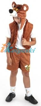 Костюм Медведя, костюм Бурого медведя, костюм Винни Пуха русского, карнавальный костюм Медвежонка,  детский карнавальный костюм Медведя для мальчика,  Карнавалия Плюш