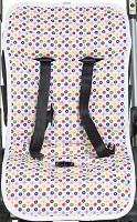 Матрас в прогулочную коляску и детское автокресло Ecobaby Mammie, цвет Конфетти, двусторонний, размер 74х35 см