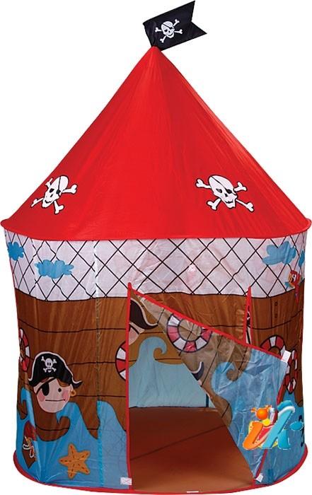 Детский игровой домик палатка Bony ПИРАТСКИЙ ДОМИК, большой игровой домик, упакован в сумке, размер домика 135х66х91 см,  артикул GFA-074. Домик-тент упакован в сумке. Детские домики предназначены для игр на открытом воздухе или внутри помещения, детские игровые домики палатки от фирмы Бони являются складными и компактными для хранения. Ткань нейлон легко моется и быстро сохнет.