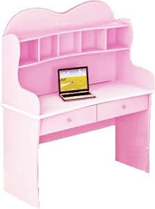 Рабочий стол для девочки, письменный стол детский, серия Любимая Принцесса, материал МДФ