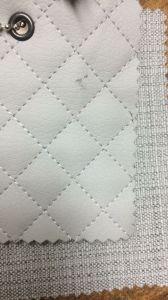Е72 кремово-серая экокожа и кремово-серая ткань под лен
