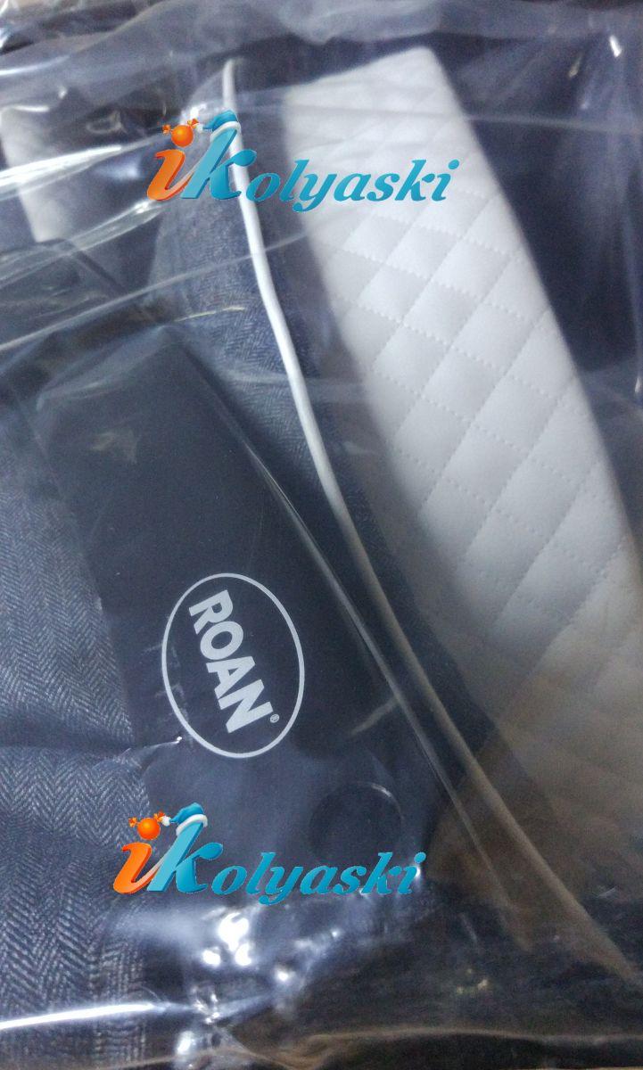 Roan Emma E-69 материал деним джинсовый в елочку и белая экокожа, простеганная в ромбик. отделка - белый кожаный кант