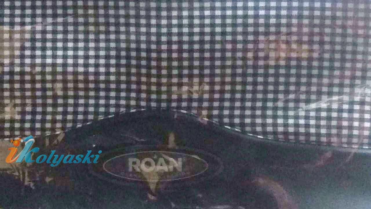 Roan Kortina K-44 синяя экокожа и бело-синяя мелкая клетка
