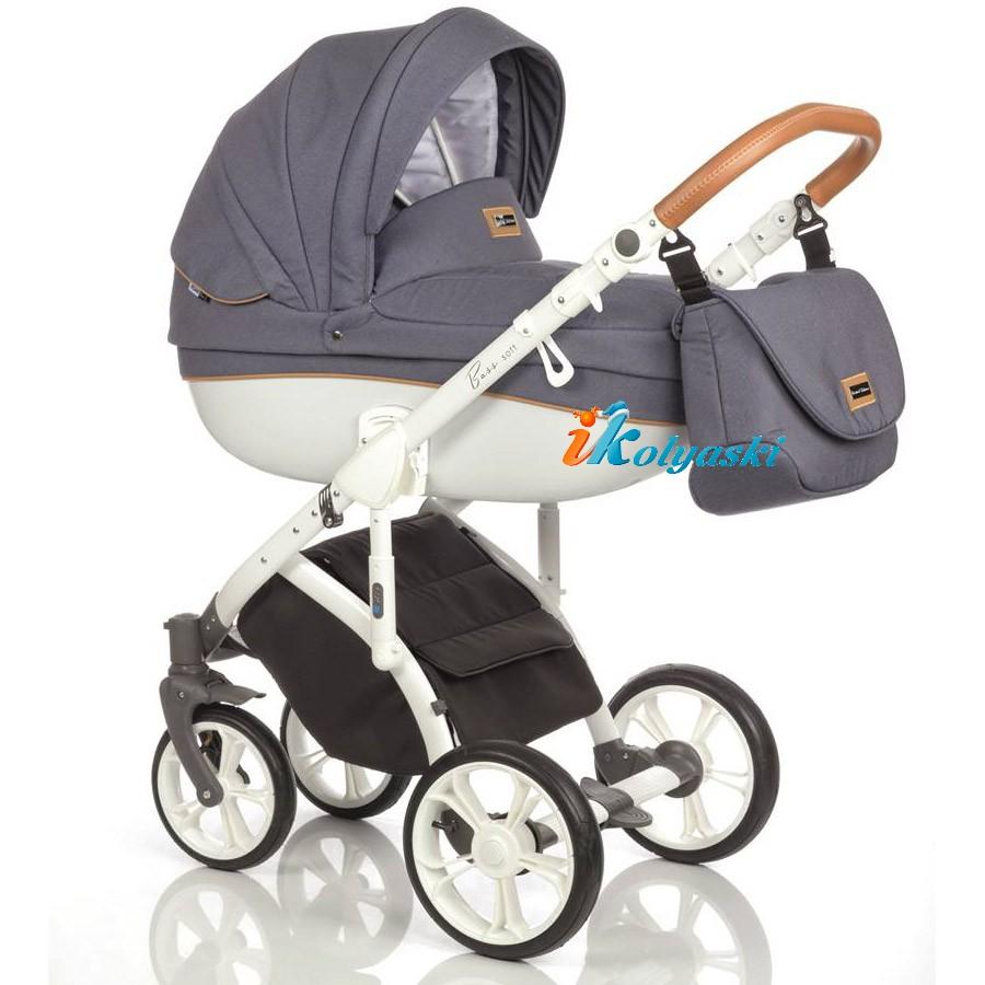 Roan Bass Soft Leather & Denim (Jeans), Детская коляска для новорожденных, на поворотных колесах, 3 в 1 Roan Bass Soft  - Роан Басс шасси Софт, обшивка люльки Эко-Кожа и джинс. Новинка 2018. Roan Bass Soft Leather, Детская коляска для новорожденных, детская коляска на поворотных колесах, коляски 3 в 1, коляска Roan Bass Soft, коляска Роан Басс Софт, коляски новинки 2018, детские коляски новинки 2018, коляски Roan, детские коляски роан купить
