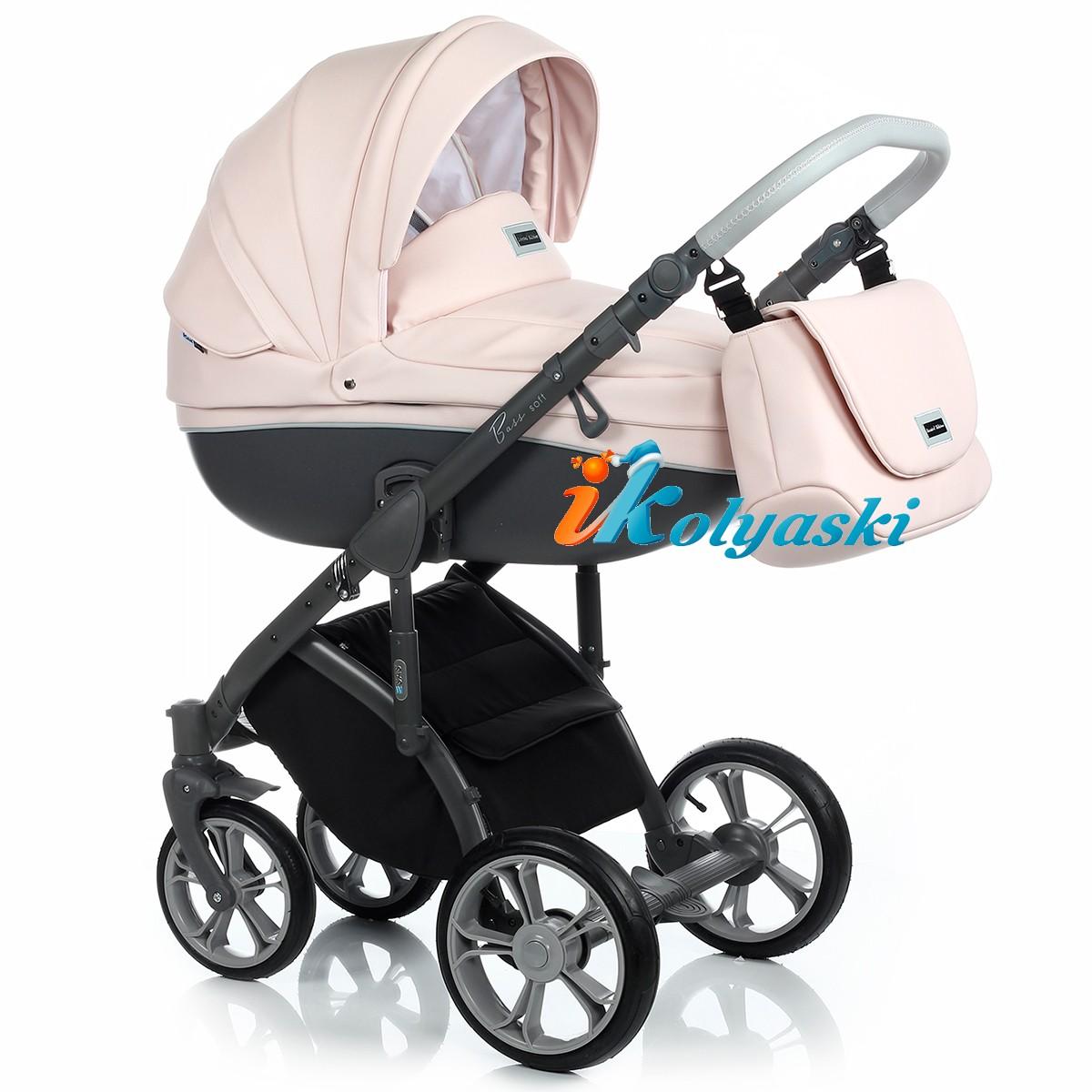 Roan Bass Soft LE Leather ROMANTIC PINC , Детская коляска для новорожденных, на поворотных колесах, 3 в 1 Roan Bass Soft LE - Роан Басс шасси Софт , обшивка люльки Эко-Кожа и джинс. Новинка 2018. Roan Bass Soft Leather, Детская коляска для новорожденных, детская коляска на поворотных колесах, коляски 3 в 1, коляска Roan Bass Soft, коляска Роан Басс Софт, коляски новинки 2018, детские коляски новинки 2018, коляски Roan, детские коляски роан купить