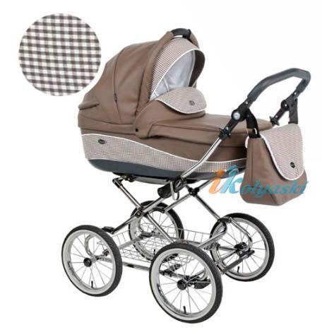 Детская коляска для новорожденных Roan Emma Chrome 3 в 1, Роан Эмма Хром на 14 дюймовых надувных колесах, цвет E10