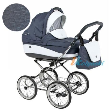 Детская коляска для новорожденных Roan Emma Chrome 2 в 1, Роан Эмма Хром на 12 дюймовых надувных колесах. Цвет E11