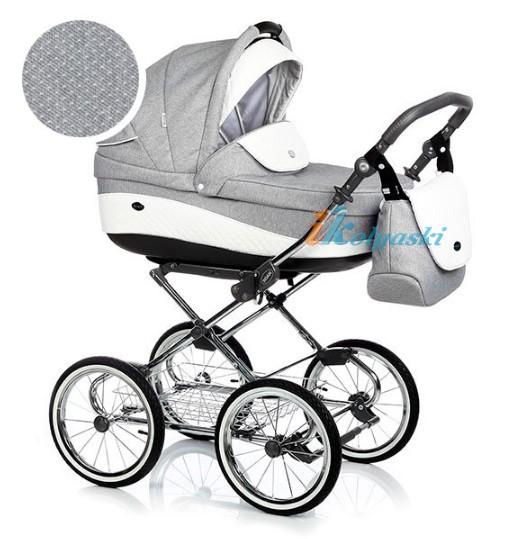 Детская коляска для новорожденных Roan Emma Chrome 3 в 1, Роан Эмма Хром на 14 дюймовых надувных колесах, цвет E165