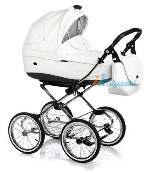 Детская коляска для новорожденных Roan Emma Chrome 2 в 1, Роан Эмма Хром на 12 дюймовых надувных колесах. Цвет E17