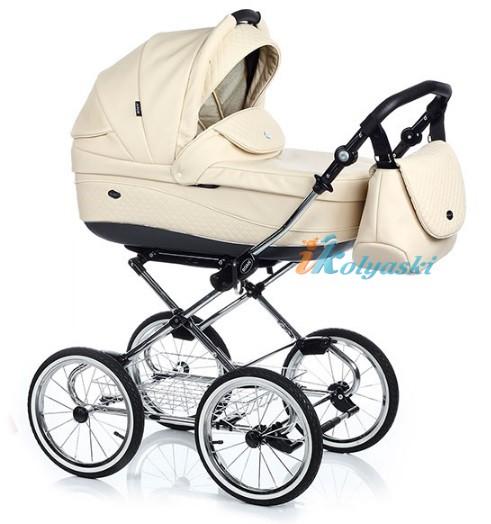 Детская коляска для новорожденных Roan Emma Chrome 2 в 1, Роан Эмма Хром на 12 дюймовых надувных колесах. Цвет E18