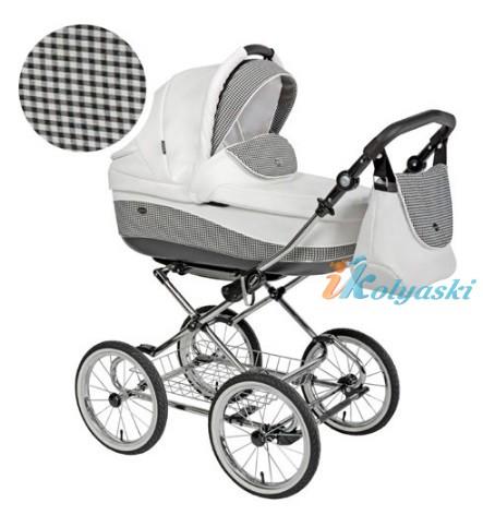 Детская коляска для новорожденных Roan Emma Chrome 2 в 1, Роан Эмма Хром на 12 дюймовых надувных колесах. Цвет E24
