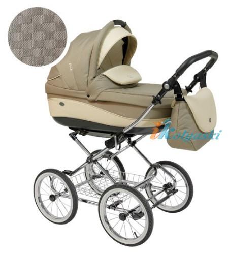 Детская коляска для новорожденных Roan Emma Chrome 2 в 1, Роан Эмма Хром на 12 дюймовых надувных колесах. Цвет E27