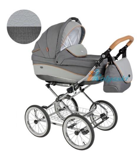 Детская коляска для новорожденных Roan Emma Chrome 2 в 1, Роан Эмма Хром на 12 дюймовых надувных колесах. Цвет E31