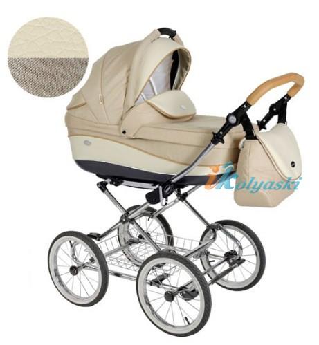 Детская коляска для новорожденных Roan Emma Chrome 2 в 1, Роан Эмма Хром на 12 дюймовых надувных колесах. Цвет E36