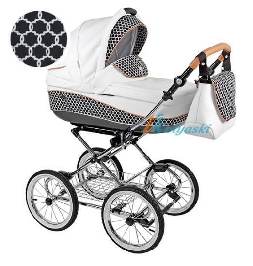 Детская коляска для новорожденных Roan Emma Chrome 2 в 1, Роан Эмма Хром на 12 дюймовых надувных колесах. Цвет E42