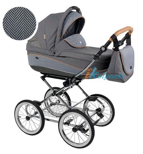 Детская коляска для новорожденных Roan Emma Chrome 2 в 1, Роан Эмма Хром на 12 дюймовых надувных колесах. Цвет E50
