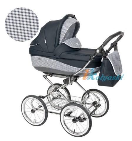 Детская коляска для новорожденных Roan Emma Chrome 3 в 1, Роан Эмма Хром на 14 дюймовых надувных колесах, цвет E9