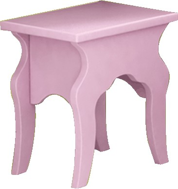 Стул-скамейка для рабочего стола, серия Любимая Принцесса, материал МДФ
