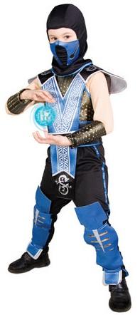 Костюм Саб Зиро, костюм Ниндзя Саб-Зиро. Детский карнавальный костюм Ледяного Ниндзя, персонаж игры и фильма