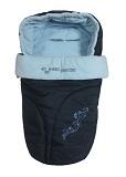 Теплый флисовый конверт для всех типов детских колясок, увеличенный конверт в коляску фирмы Ecobaby - Экобейби, цвет ТЕМНО-СИНИЙ С ГОЛУБЫМ ФЛИСОМ. Конверт детский демисезонный, с прорезями под 5-ти точечные ремни безопасности. Используется 3 зимы: в люльку, в прогулку, на санки.