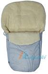 Зимний конверт для новорожденных Ecobaby - Экобейби, модель Baby Breeze Winter,  увеличенного размера 98х45 см, с добавкой шерсти альпак, натуральный шерстяной конверт на выписку, зимний конверт в коляску,  снабженный прорезями под 5-ти точечные ремни безопасности, артикул 0306, цвет СЕРЕБРИСТЫЙ. Такой конверт прекрасно сохранит тепло Вашего малыша в морозные и прохладные дни, независимо от постоянно меняющейся температуры воздуха на улицы. Конверт Ecobaby прекрасно подходит для переменчивого климата, для зимы от +5ºС  до - 25ºС.