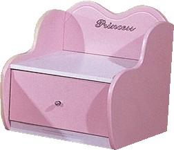 Прикроватная тумбочка, серия Любимая Принцесса, материал МДФ, Lotus Car Bed