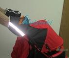 Зимняя муфта-варежки ЛАПЛАНДИЯ плащевка, ВАРЕЖКИ для коляски ТРОСТИ, варежки на ручки детских колясок, натуральная шерсть, цвет ЧЕРНЫЙ
