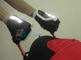 Зимняя муфта-варежки ЛАПЛАНДИЯ ЭКО-КОЖА, ВАРЕЖКИ для коляски ТРОСТИ, варежки на ручки детских колясок, цвет ЧЕРНЫЙ